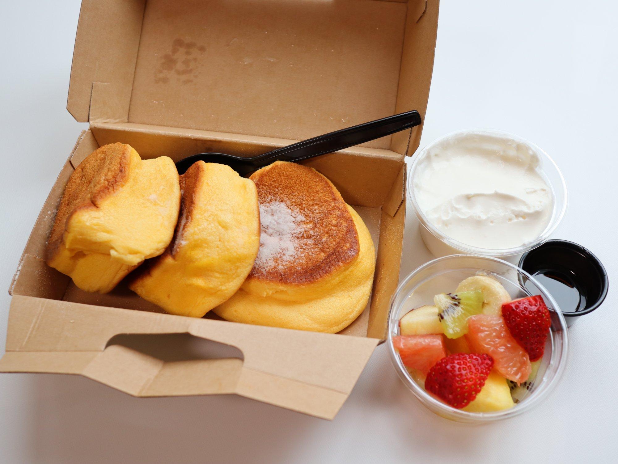 menuで注文したパンケーキ