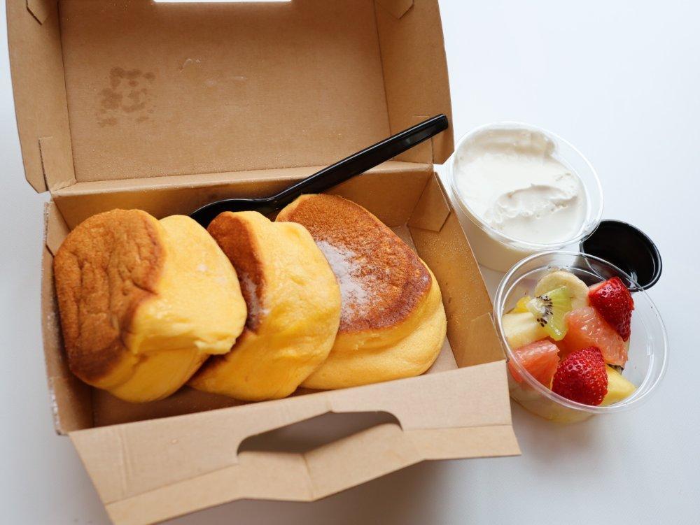 menuで注文した幸せのパンケーキ