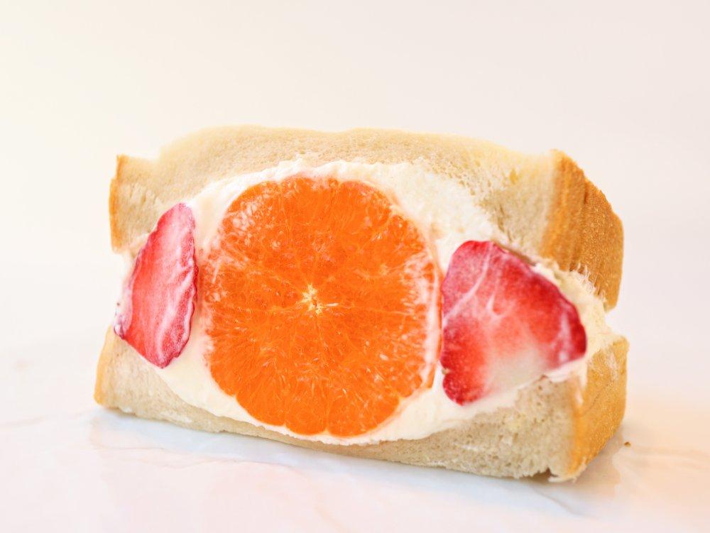 柑橘メープルクリームチーズのフルーツサンド