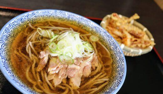 【実食レポ】山形蕎麦 やま久 柳生店で冷たい肉そばとゲソ天セット