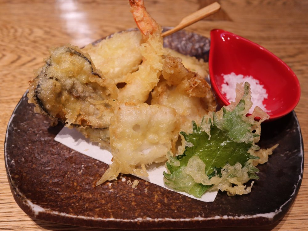 利久の和食処 松島 天ぷら盛り合わせ