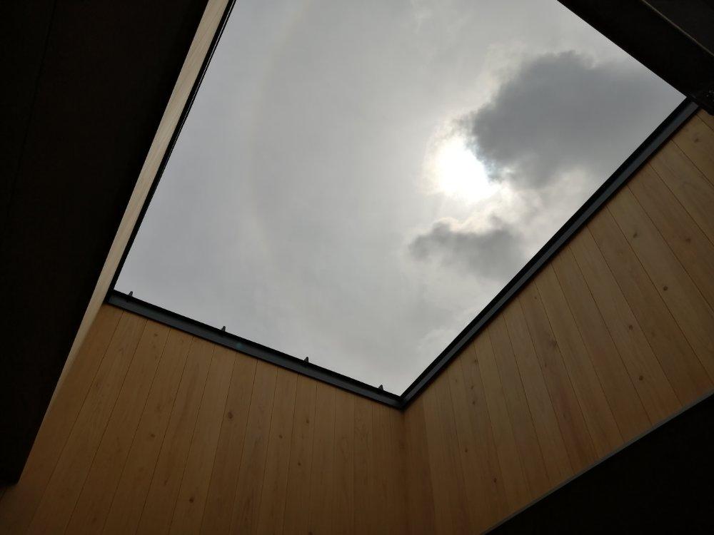露天風呂から見上げた空