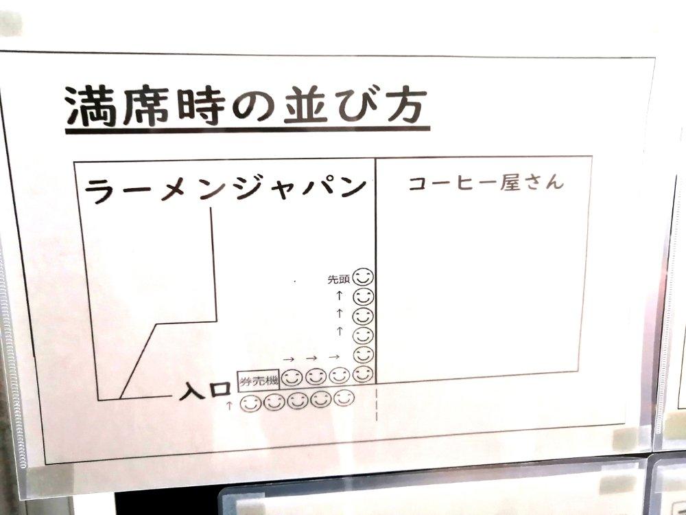 ラーメンジャパン 満席時の並び方