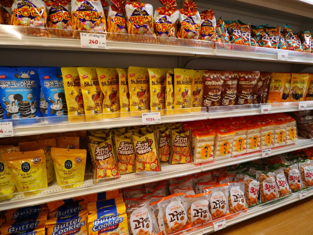 韓国のスナック菓子