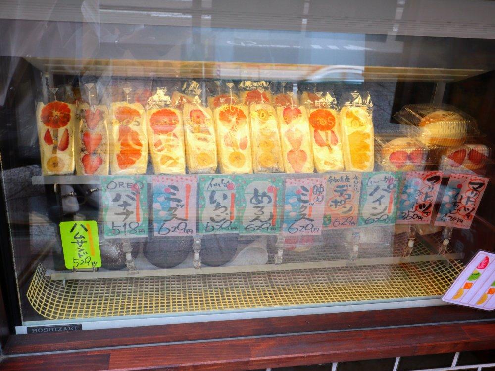 阿部青果店のフルーツサンドを強グループで販売中