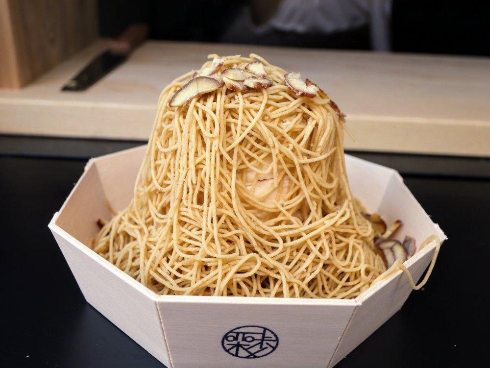 和栗モンブラン専門店栗歩 仙台広瀬通店のモンブラン