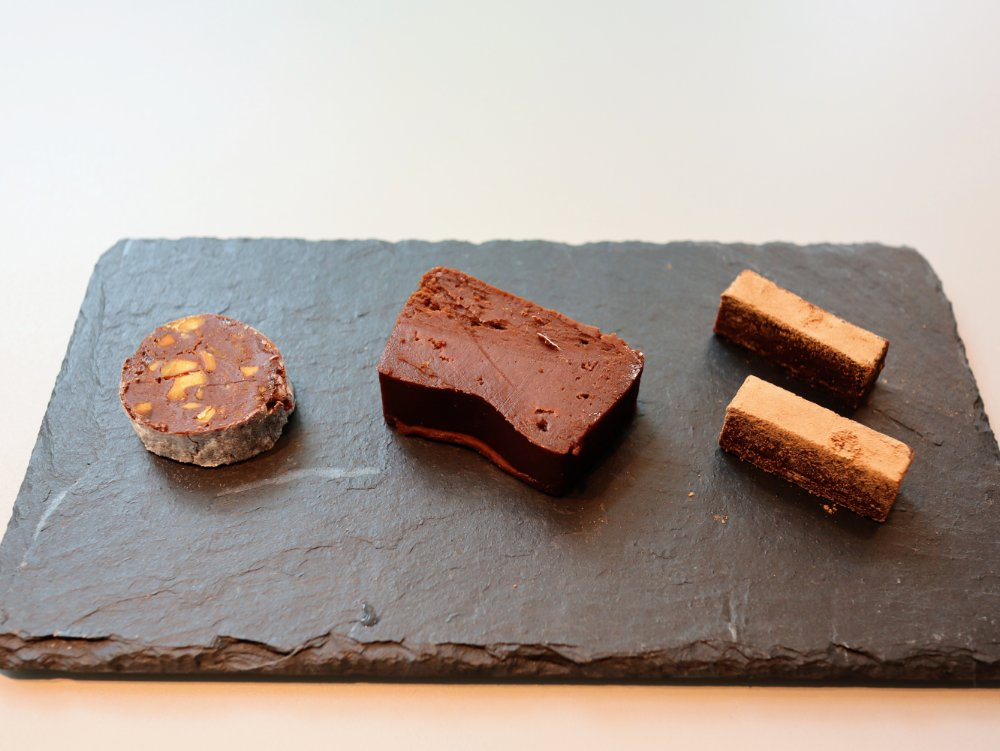 「nel CRAFT CHOCOLATE TOKYO」の3種類のショコラ
