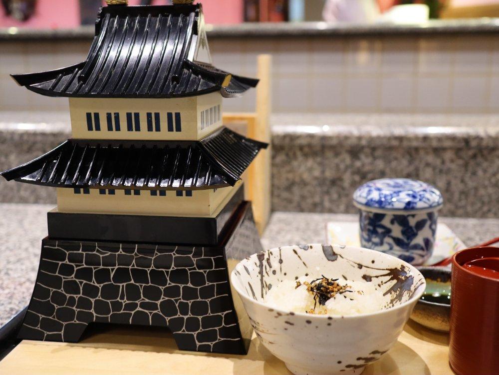 仙台城のお膳