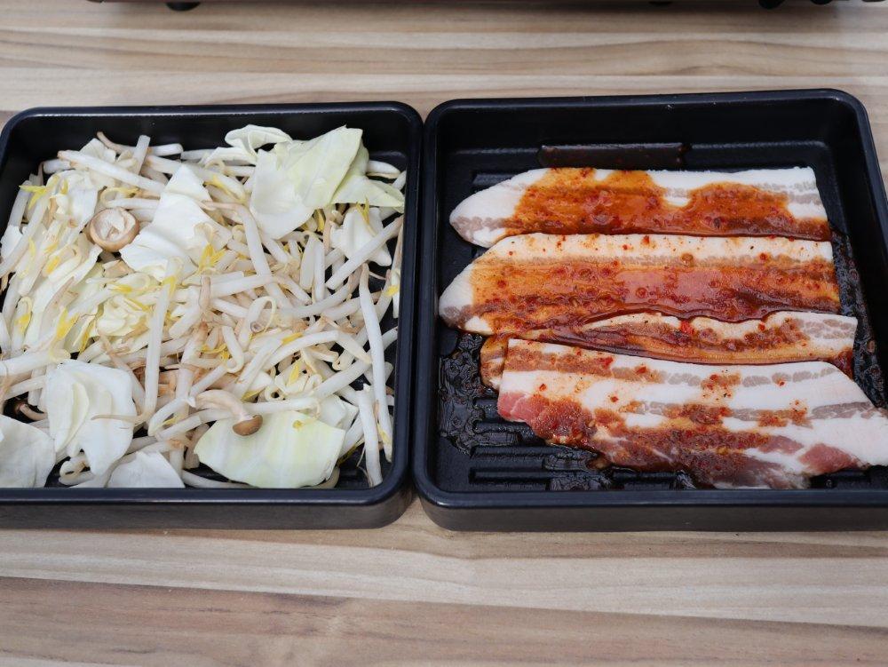 麻辣豚カルビと焼き野菜盛り合せ