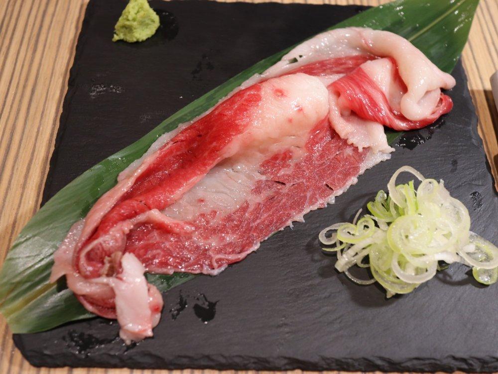 和牛1枚炙り寿司