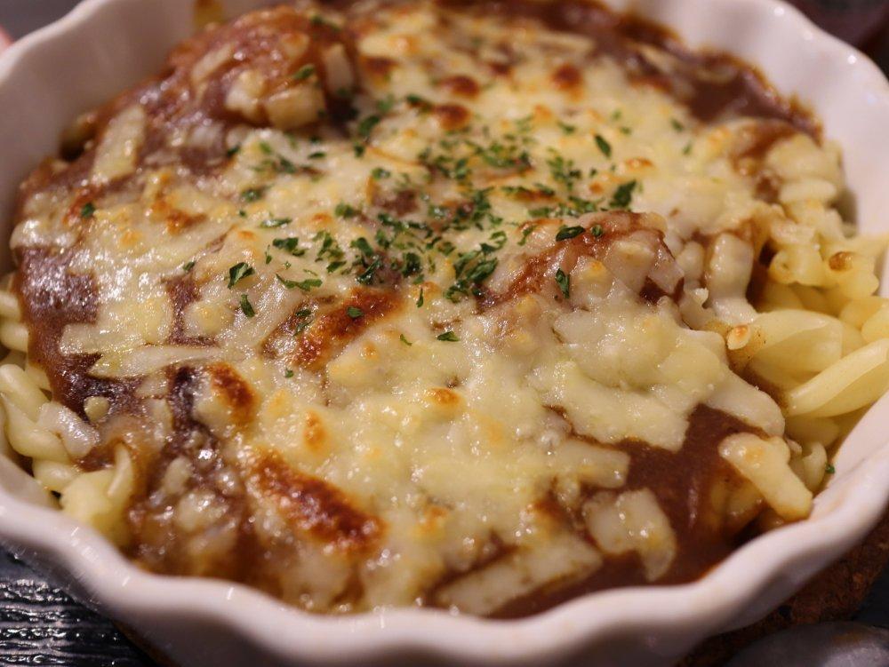 焼チーズカレーマカロニグラタン