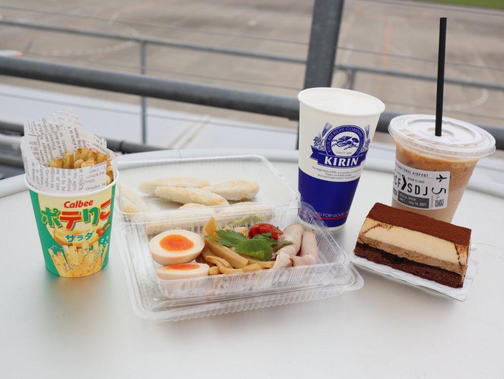 仙台国際空港のビアガーデンでランチ