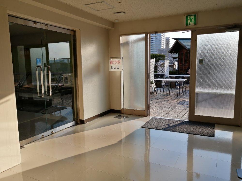 藤崎ビアガーデン入口