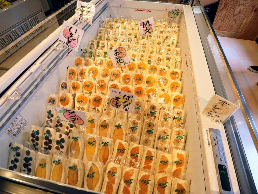 #05阿部青果店のフルーツサンドメニュー