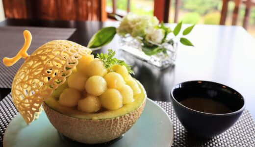 【レポ】仙台の懐石料理 東洋館にカフェがオープン!高級メロンまるまる1個の絶品かき氷!