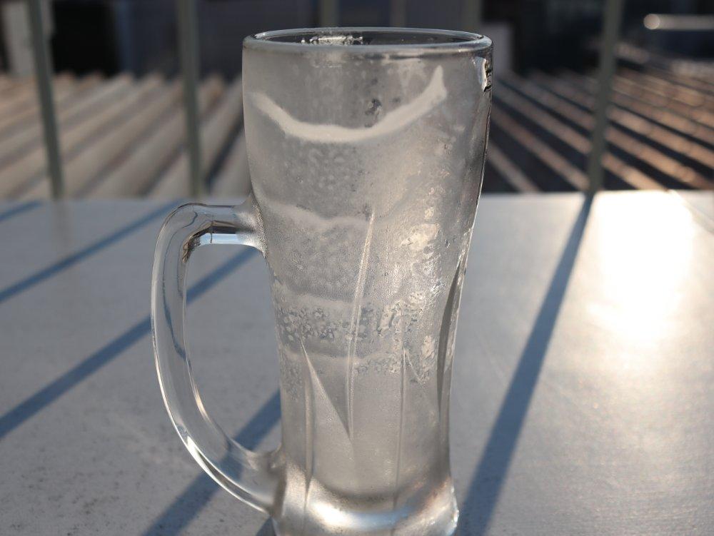 飲み干した生ビール