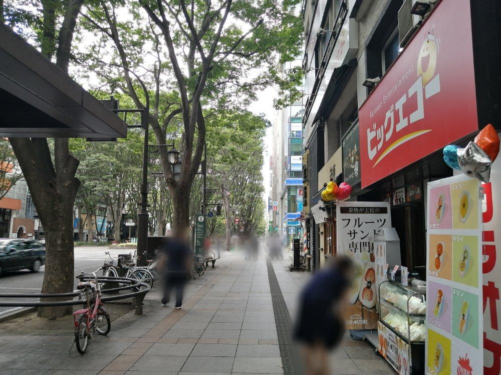 サンズストア定禅寺通り店の場所
