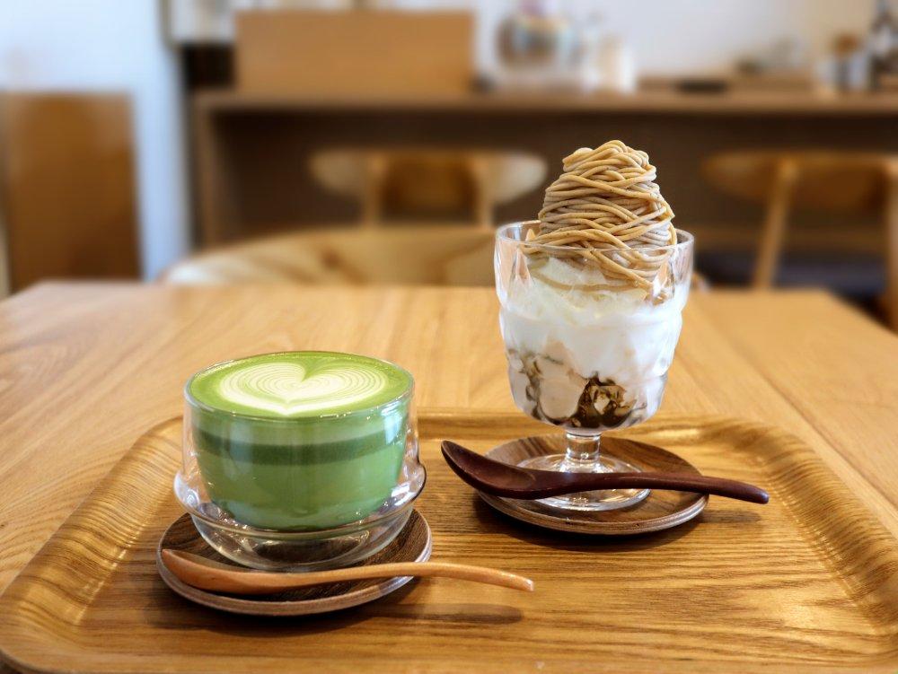 Eigyokudo cafe モンブランプリンソフト