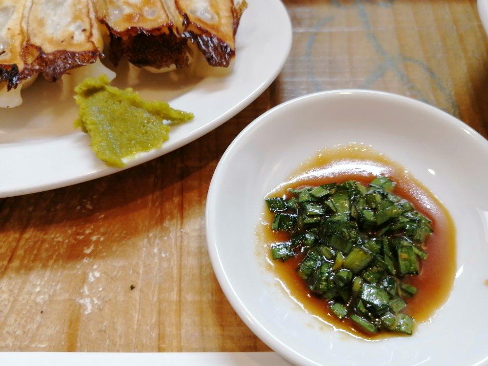柚子胡椒とニンニク醤油