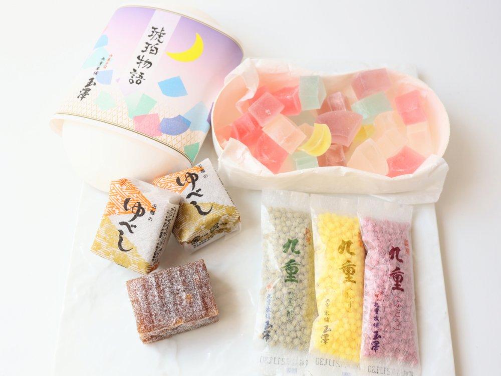 九重本舗玉澤の和菓子