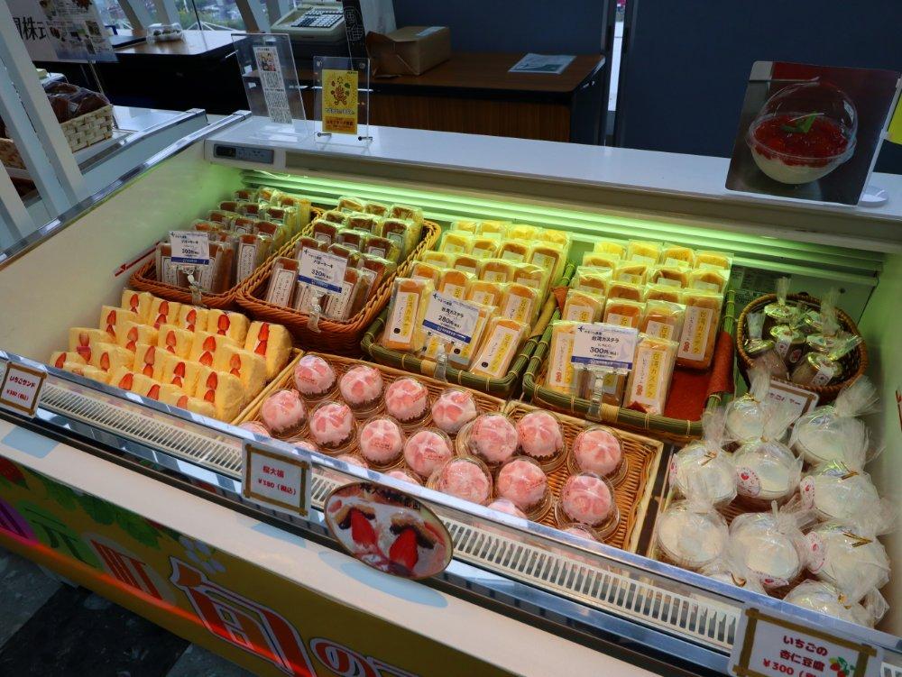 いちじくの台湾カステラやバターケーキ